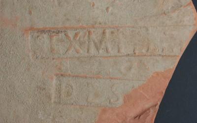 Tegula with Sextus Metilius Maximus' stamp