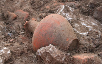 A complete jug found during excavations at Crikvenica